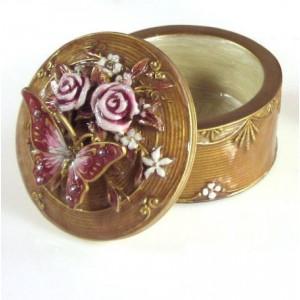 Krabička na šperky, béžová
