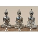 Sedící Buddha, stříbrný