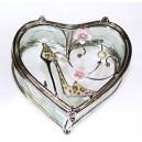 Skleněná klenotnice ve tvaru srdce