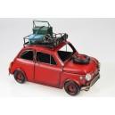 Auto červené s nosičem