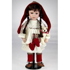 panenka 45 ¨cm, bíločervená