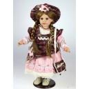 Panenka růžovo-vínová, 53 cm