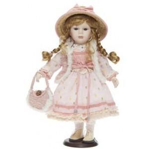Panenka bílo-růžová, 42 cm